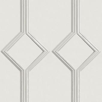 Azzurra Panel Off White Wallpaper