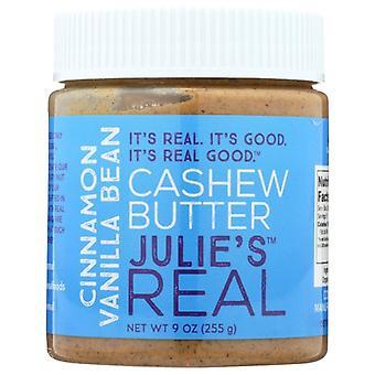 Julies Real Butter Cashew Cnnmn Van, Case of 6 X 9 Oz