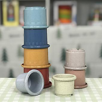 Montessori Cute Color Rainbow Stacking Ring Tower Cup