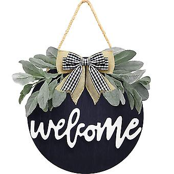 Welcome Wreath Sign For Farmhouse Front Decor, Welcome Sign For Home Decoration