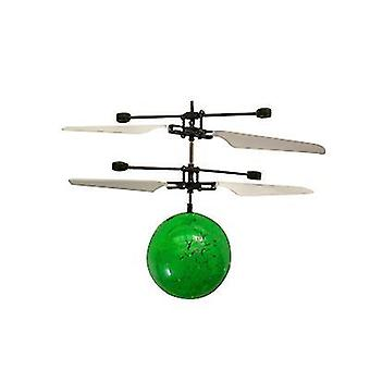 Children Outdoor hand sensor control  Led Flashing Ball helicopter Aircraft(Green)