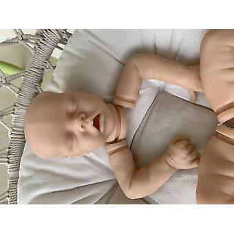Diy 18inch reborn doll kit twin a very soft lifelike real touch fresh color unpainted unfinished doll parts
