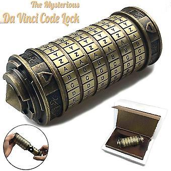 Leonardo da Vinci kod zabawki Metal Cryptex zamki prezenty ślubne Prezent Walentynki List Hasło