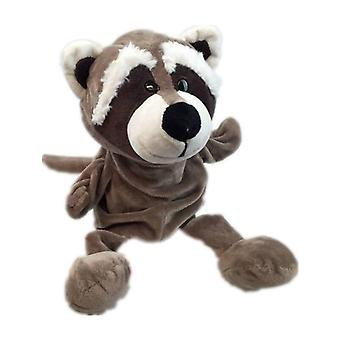 Clásico lindo cartón animal títeres de mano juguetes títeres de felpa oso mapache muñeca bebé animales de juguete