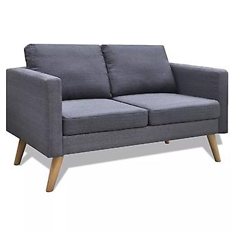 vidaXL canapé 2 sièges tissu gris foncé