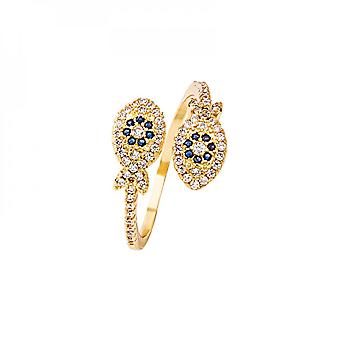 Lucky Fish Fashion Opening Micro Encrusted With Diamonds Light Luxury All-match Creative Zircon Ring Female