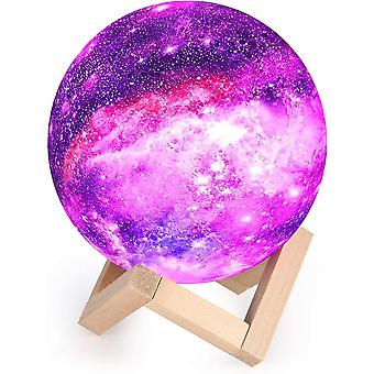 Moon Lamp 3d, Night Light Led Lamp Moon Touch 16 Colors, 15cm Diameter, Usb Rechargeable Moon Night Light