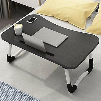 (Zwart) Draagbare verstelbare opvouwbare laptop bureau opvouwbare studie computer bed tafelstandaard