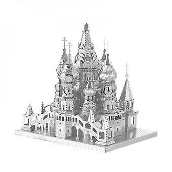 Three-dimensional Metal Stacker Set, Creative 3d Metal Assembly Model Jigsaw Puzzle Vasily Cathedral Stacking Game