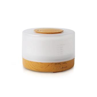 Wood Grain Air Humidifier With Remote Control Essential Oil Diffuser 500Ml Brown