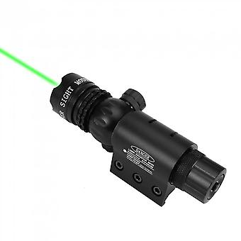 Aluminum Tactical Hunting 532nm Green Dot Laser Sight Scope With Rail Mount