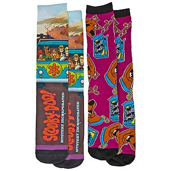 Scooby-Doo Mystery Machine e Scooby Snacks Calzini sublimati da 2 confezioni