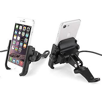 Rearview Mirror Charging Phone Holder (black)