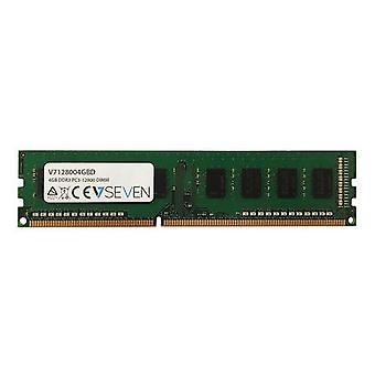 V7 V7128004GBD, 4 GB, 1 x 4 GB, DDR3, 1600 MHz, 240-pin DIMM, Grön