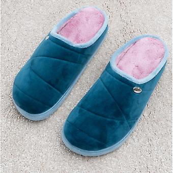 Scholl Holly 2.0 Ladies Quilted Mule Slippers Petrolia
