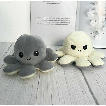 Plush Octopus Reversible Cute Flip Mood Soft Toy Gift Happy Sad Toy