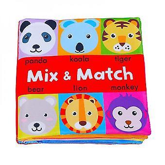 Venalisa 0-24 Miesiące Baby Soft Book Zabawki edukacyjne Cognitive Color Objects Wczesna edukacja-a