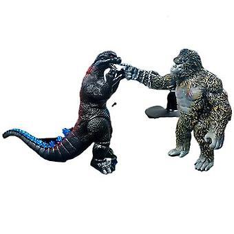 Godzilla vs. King Kong -nukke liikuteltavalla hirviödinosaurusmallilla
