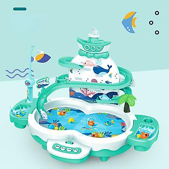 Children's Multifunctional Suspension Electric Fishing Piggy Diaoyutai With Track Toy