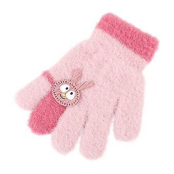 Kinderhandschuhe Weiblich Süßes Kaninchen Warme und kältefeste Baby Strickhandschuhe
