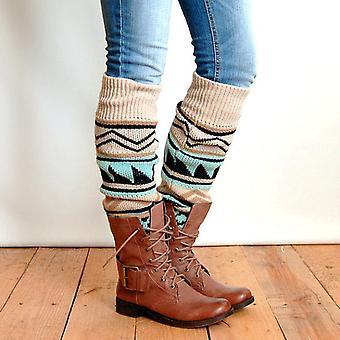 Naisten jalka lämmin virkattu pitkä kalvosin sukka sukka yli polven korkea boot sukat