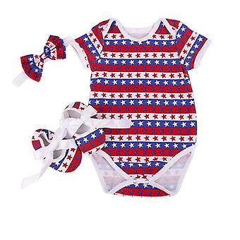 Girls Newborn Baby Short Sleeve Romper Outfit Bodysuit Jumpsuit