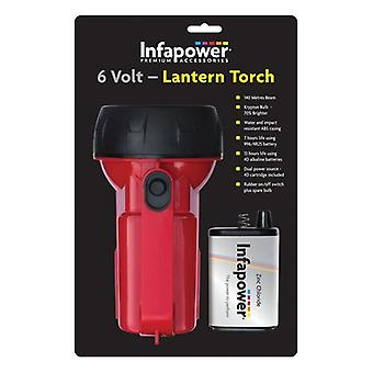 infapower 6 V lantaarn Torch - rood