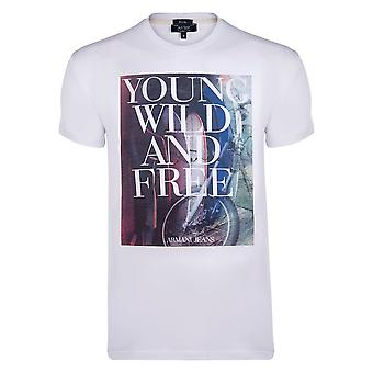 Armani White YWF Graphic Mens T-Shirt