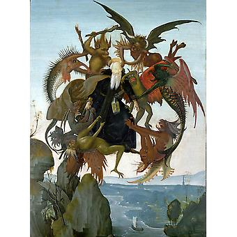Michelangelo - The Torment of Saint Anthony Poster Print Giclee