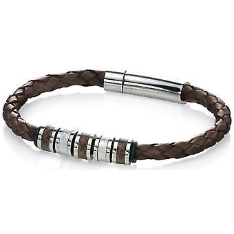Stainless Steel Leather Fashionable Bracelet