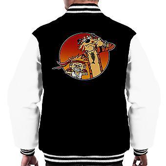 Street Pals Street Fighter Calvin And Hobbes Men's Varsity Jacket