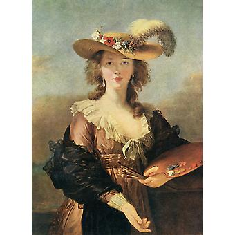 Louise �lisabeth Vige Le Brun  1755   1842 aka  Madame Lebrun  Prominent French painter  From Bibbys Annual published 1915 Poster Print by Hilary Jane Morgan  Design Pics