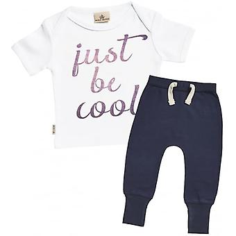 Spoilt Rotten Just Be Cool Baby T-Shirt & Joggers Outfit Set