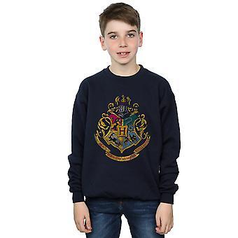 Harry Potter Boys Hogwarts Distressed Crest Sweatshirt