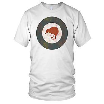 New Zealand Kiwi Luftforsvaret rondell Grunge Efefct damer T skjorte