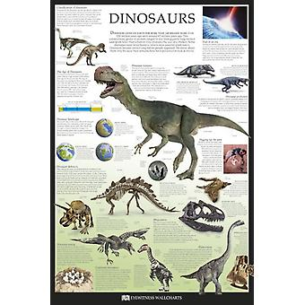 Dinosaurs - Dorling Kindersley Eyewitness Wallcharts Poster Poster Print