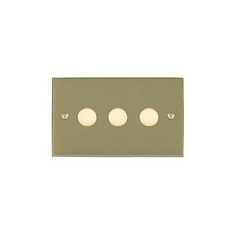 Hamilton Litestat Cheriton victorianske Satin messing 3g 100W LED lysdæmper SB