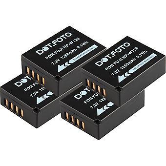 4 x Dot.Foto Fujifilm NP-W126 wymiana baterii - 7, 2V / 1260mAh - 2 lata gwarancji [Zobacz opis dla zgodności]