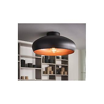 Eglo Mogano Open Bowl Black And Gold Ceiling Light