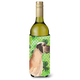 Garrafa de vinho de castanho Natural Dogue St. Patrick Beverge isolador Hugger