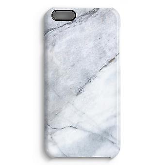 iPhone 6 Plus Full Print Fall (glänzend) - Marmor weiß