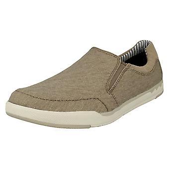 クラークス メンズ カジュアル靴ステップ アイル スリップ スリップオン