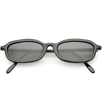 صحيح الإطار الصغيرة خمر نظارات بيضاوية القرن انعقدت 49 مم