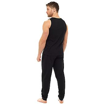 Tom Franks Mens polyester/coton veste et pantalon Lounge Pyjamas