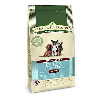 James Wellbeloved Small Breed Adult canard & riz nourriture sèche pour chiens - 1,5 kg