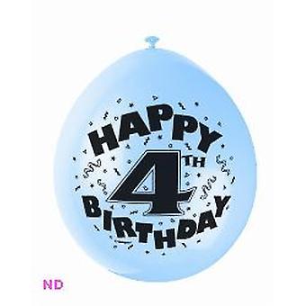 "Ballonnen '4e verjaardag' 9"" Latex ballonnen (10)"