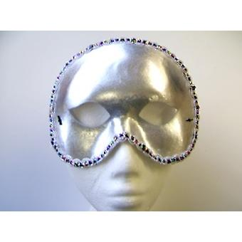 Cocktail zilveren Party Eyemask