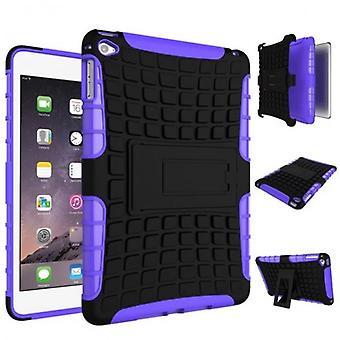 Hybride buiten beschermhoes case paars voor iPad Mini 4 7,9 inch geval