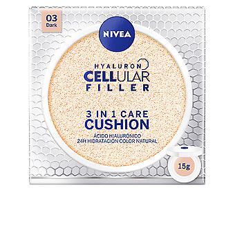 Nivea Hyaluron Filler celular 3 en 1 cuidado amortiguador #03-oscuro 15 Gr para las mujeres