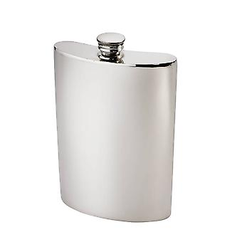 10Oz Plain Pewter Kidney Hip Flask
